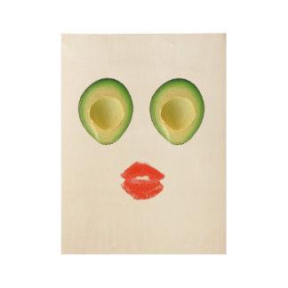 Hilarious Avocado Face 4Anik Wood Poster
