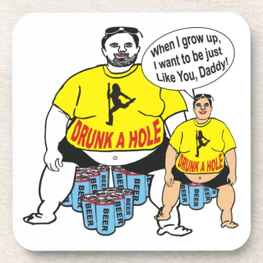 Hilarious Drunk Father Like Son Coasters