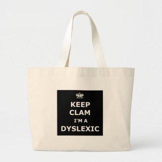 Hilarious dyslexic tote bags