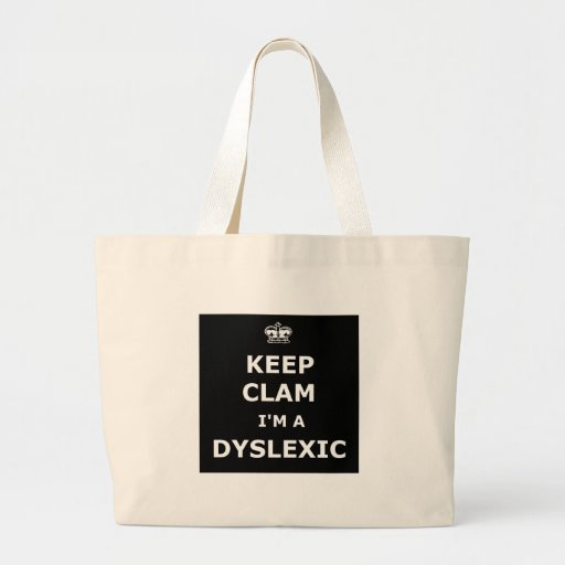 Hilarious dyslexic tote bags
