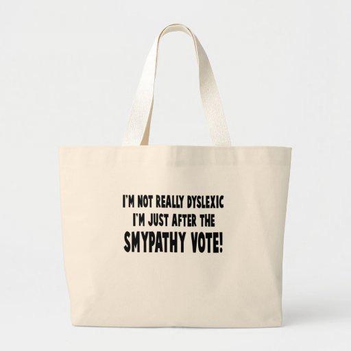 Hilarious dyslexic slogan canvas bags