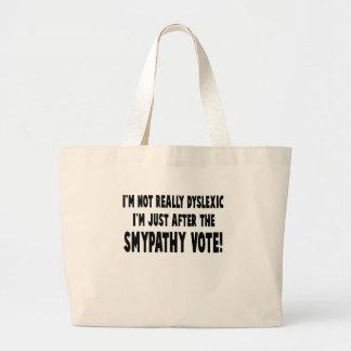 Hilarious dyslexic slogan jumbo tote bag