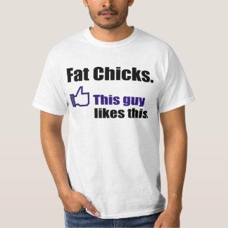 Hilarious Fat Chicks Tee Shirt