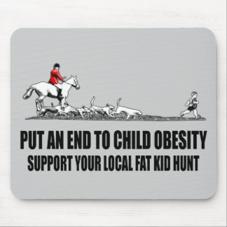 Hilarious fat kid mouse pad