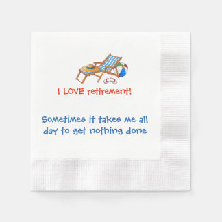 Hilarious Loving Retirement Paper Serviettes