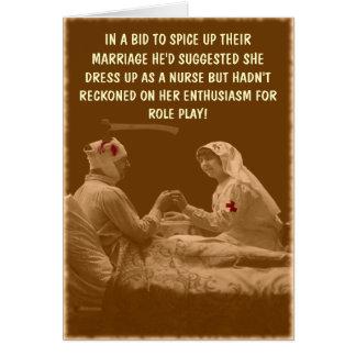 Hilarious nursing card