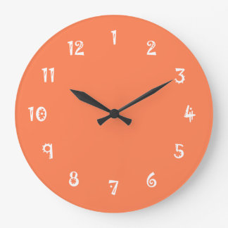 Hilarious One Color Coral Large Clock