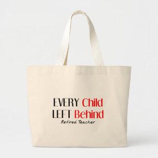 Hilarious Retired Teacher Gifts Jumbo Tote Bag