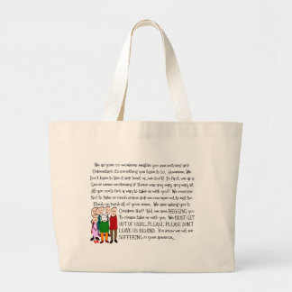 Hilarious Retirement Card--From The Gang! Jumbo Tote Bag