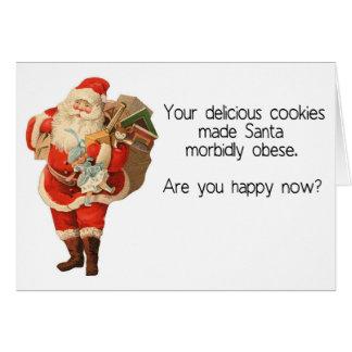Hilarious Santa Christmas Card