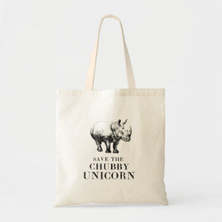 Hilarious save the chubby unicorns rhino tote