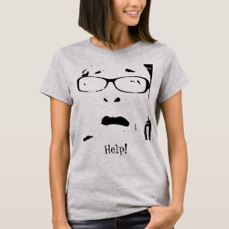 Hilarious Scared Lady Wearing Glasses Personalized T-Shirt