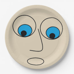 Hilarious Scared Man Cartoon Face Design Paper Plate  sc 1 st  Zazzle & Cartoon Face Plates | Zazzle.com.au