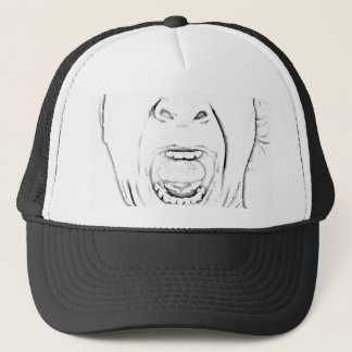 Hilarious Screaming Face Design Trucker Hat