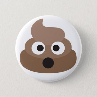 Hilarious shocked Emoji Poop 6 Cm Round Badge