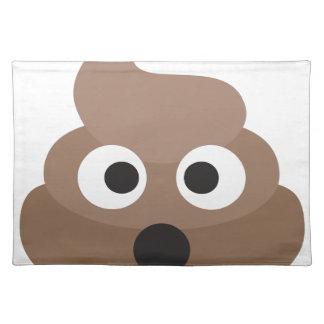 Hilarious shocked Emoji Poop Placemat