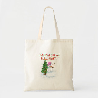 Hilarious Snow (lady) cartoon Budget Tote Bag