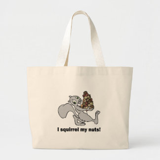 Hilarious squirrel canvas bag