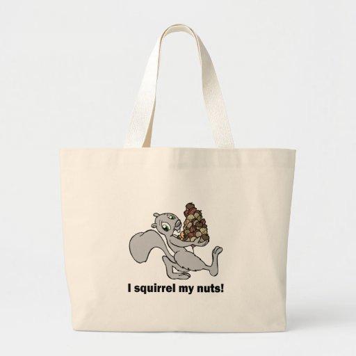 Hilarious squirrel canvas bag