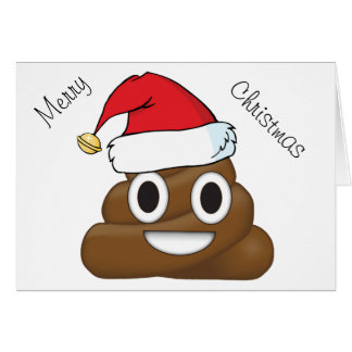 Hilarious Xmas Poop Emoji Card