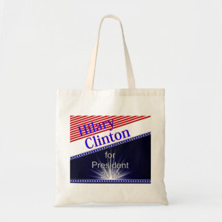 Hilary Clinton For President Explosion Budget Tote Bag