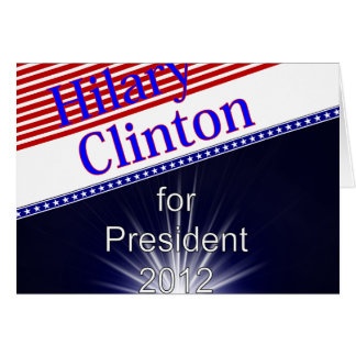 Hilary Clinton For President Explosion Card