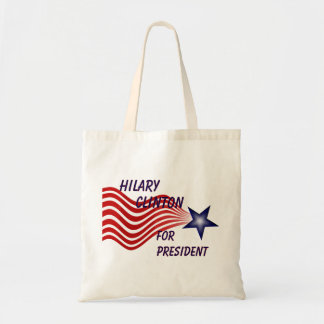 Hilary Clinton For President Shooting Star Budget Tote Bag