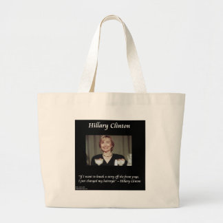 Hilary Clinton Hairstyles & Headlines Quote Bag