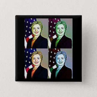 Hilary Clinton Memorabilia  Digital Art Button