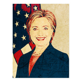 Hilary Clinton Memorabilia Pop Art Blank Card