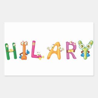 Hilary Sticker