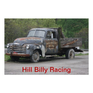 Hill Billy Racing Special Poster