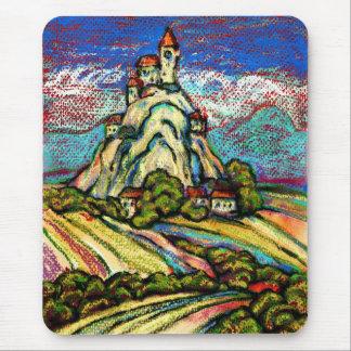 Hill Castle Fantasy Mouse Pad