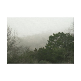 Hill Country Foggy Morning Canvas