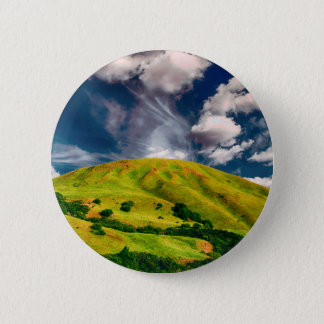 Hill countryside landscape nature 6 cm round badge