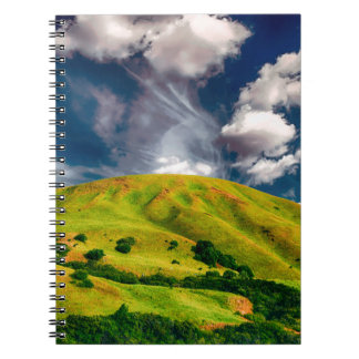 Hill countryside landscape nature spiral notebook