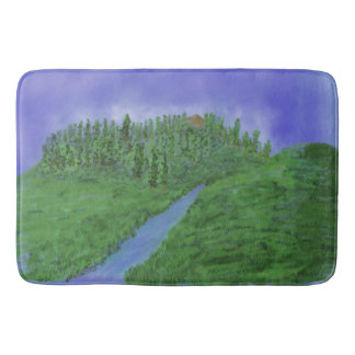 Hill & stream bath mat