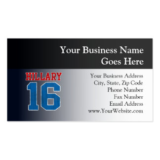 Hillary 2016, Grunge Retro Varsity Pack Of Standard Business Cards