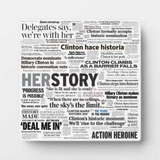 Hillary 2016 Historic Headline Collage Plaque