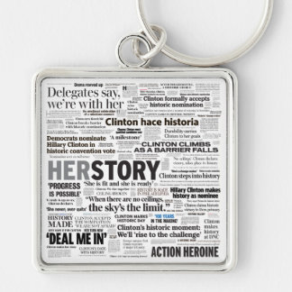 Hillary 2016 Historic Headline Keychain