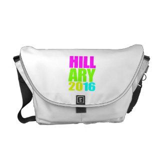 HILLARY 2016 NEON MESSENGER BAG