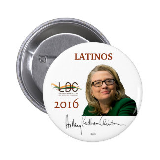HILLARY 2016 Official Latinos Democrats Pin Button