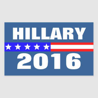 Hillary 2016 Presidential Election Campaign Rectangular Sticker