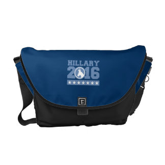 HILLARY 2016 ROUND DONKEY MESSENGER BAG