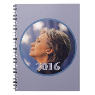 Hillary 2016 spiral notebook