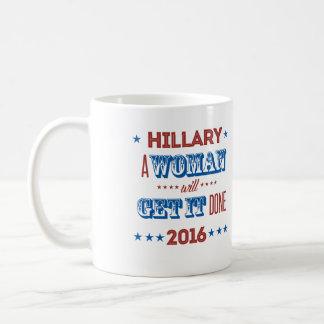 Hillary - A woman will get it done - Basic White Mug