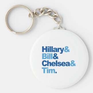 Hillary and Bill and Chelsea and Tim Basic Round Button Key Ring