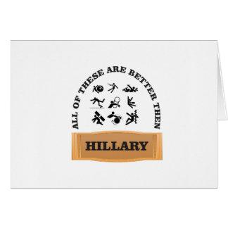 hillary bad card