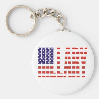 Hillary Basic Round Button Key Ring