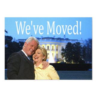 Hillary & Bill New Address Christmas card 13 Cm X 18 Cm Invitation Card
